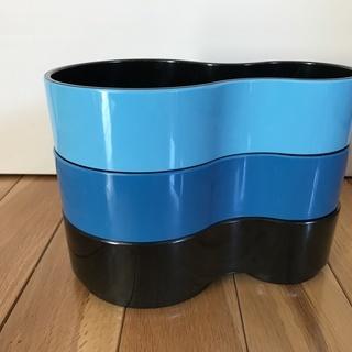 北欧のひょうたん型のトレー/プレート 3色セット