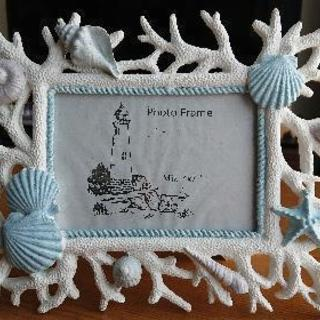 貝殻 フォトフレーム 写真立て