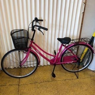 ママチャリ 自転車 26インチ ピンク 現状仕上げ