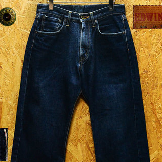 廃盤W28(78cm)エドウィン505赤耳セルビッチデニム股下74cm