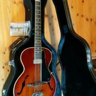 希少廃盤グレコ ピックギターL-10Pフルアコ デットストック