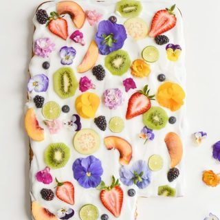 食用花&フルーツデザート作り