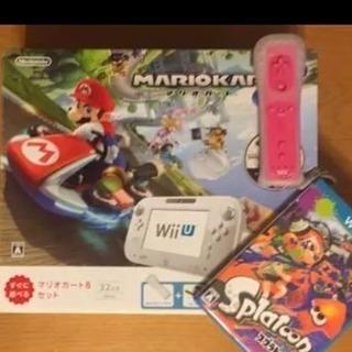 美品 Wii U マリオカート8内蔵32GB セット