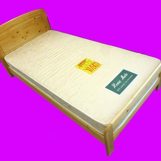 札幌市内及び近郊地区配達組立設置可 シンプル シングルベッド マッ...