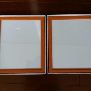 【未使用】四ツ切サイズ写真立て(ガラス製)2コセット