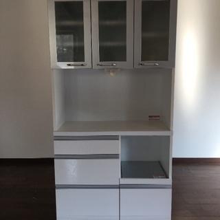 シンプルモダン食器棚(幅90cm)
