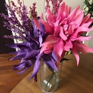 IKEAアートフラワー5本セット(花瓶は含みません)  造花   ...