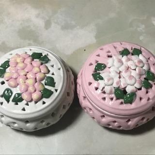 菓子器2個セット  紅白