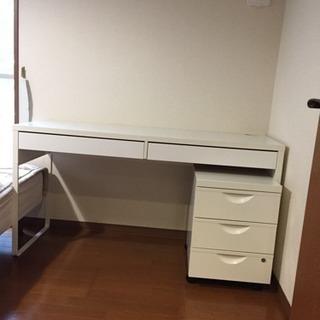 -中古- IKEA MICKE パソコンデスク・ERIKとセット