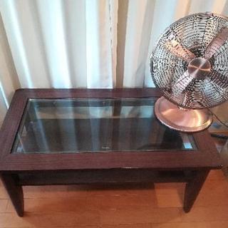Tempered Glass【テーブル】ダークブラウン