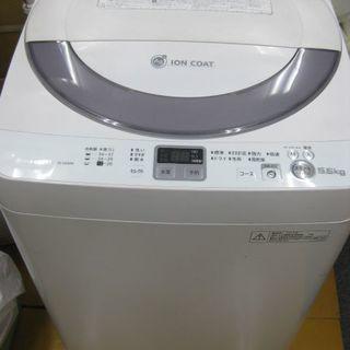 SHARP シャープ 全自動洗濯機 5.5kg ES-GE55N ...