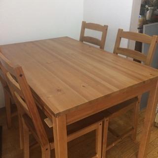 ダイニングテーブル 椅子4脚 イケア