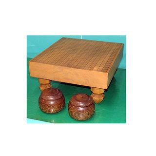 囲碁セット 碁石 碁盤 脚付き 幅41.8cm 奥行45cm 高...