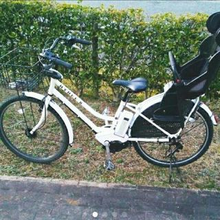 HYDEE B ハイディー 電動自転車 2人乗り VERY ホワイ...