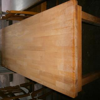 「訳あり家具」木製テーブル(150×60×74cm)