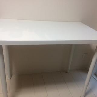 IKEA 脚の長さ伸縮可 白テーブル