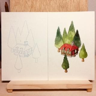 水彩画ワークショップ