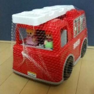 ★おもしろブロック ワーキングカー 消防車★
