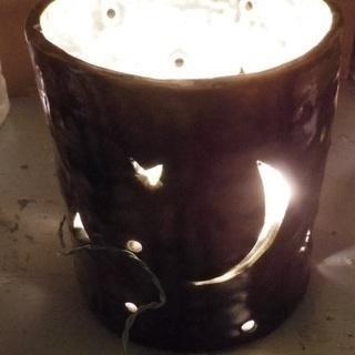 床置き 陶器ライト