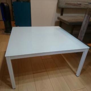 ガラス天板ローテーブル/フランフラン