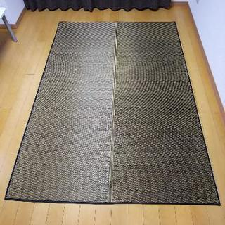 純国産 い草ラグカーペット  ダークブラウン 140×200cm