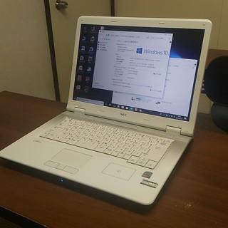 中古パソコンNEC LL750/L白15インチ★Windows10 - 和歌山市