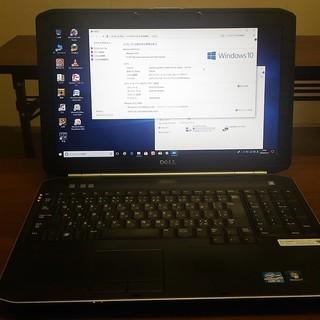 中古パソコンDELL Latitude E5520シルバー15インチ★Windows10 Corei5の画像