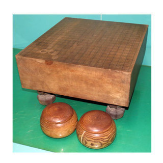 囲碁セット 碁石 碁盤 脚付き 幅41.3cm 奥行45cm 高...