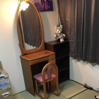 鏡台 ドレッサー 椅子付 照明付 コンセント付ドレッサー  引渡は5月中