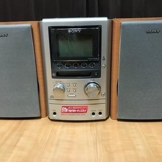 値下げしました!SONY CD/MD/カセット コンポ スピーカ...