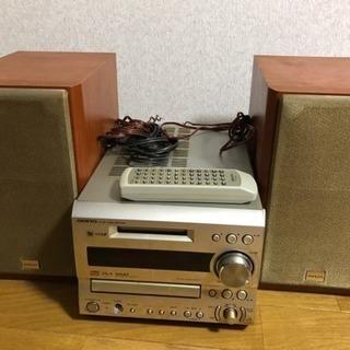 ミニコンポ 【 ONKYO 】CD/MDアンプ&スピーカー FR...