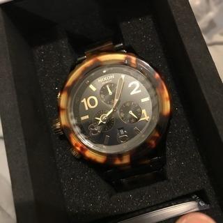 引き取りのみ 新品 ニクソン クロノ 時計 べっ甲 ユニセックス