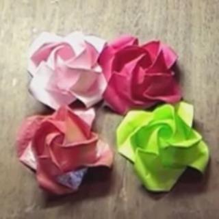 薔薇の折り紙