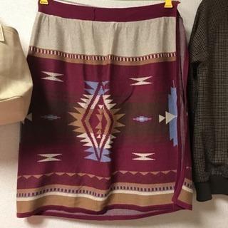 オルテガ柄 巻きスカート
