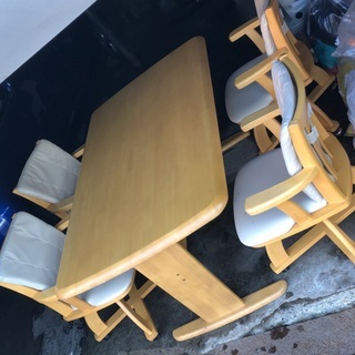 (0324-0424) ダイニングテーブル◆ナチュラルカラー◆椅子...