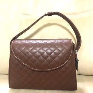 新品 ハンドバッグ 茶色 シンプル 鞄 着物 結婚式 レデ…