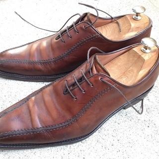 イタリア製 革靴 茶色 本革 サイズ(ヨーロッパ41 日本25....