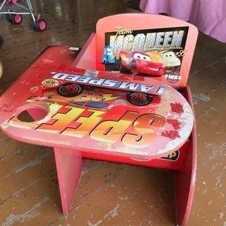 アメリカン中古 子供用 テーブル付椅子