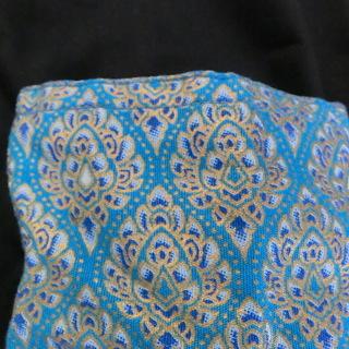 カンボジア手作りペイズリー柄ポケットバッグ 未使用 ハンドメイド...
