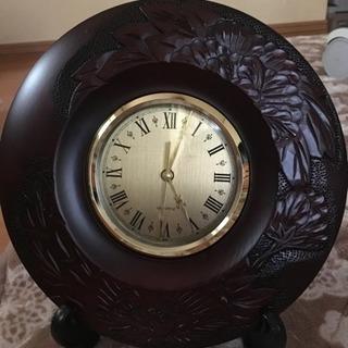 工芸品☆木彫りの時計