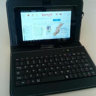 タブレット 7インチ キーボード付手帳型ケースセット