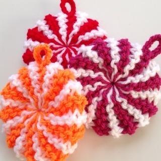 アクリルたわし☆作り方教えます〜『棒編み☆丸型』編み物レッスン☆