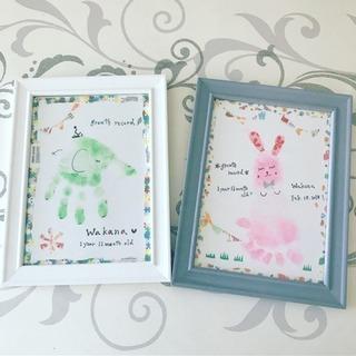 姪っ子もうすぐ2歳の記念に手形アート&手形アートの体験者募集