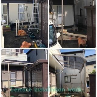 エクステリア工事店 カーポート ウッドデッキ設置致します(埼玉県...