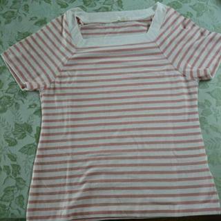 値下げ!【美品】アース  ボーダーTシャツ ピンク S