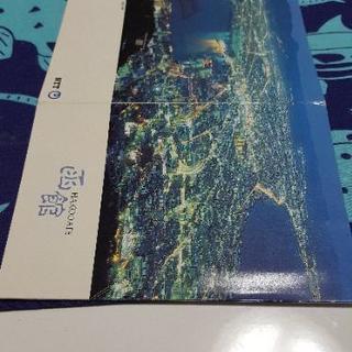 北海道 長万部で購入テレカ2枚組