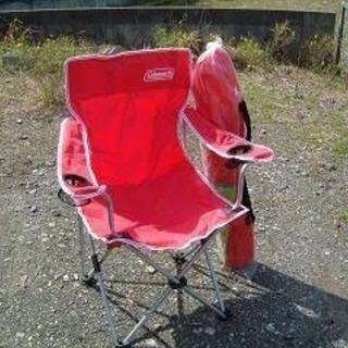 コールマン アームチェア 一脚 レッド アウトドアに キャンプ 椅子