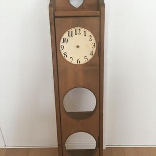 時計付きシェルフ*フック付き