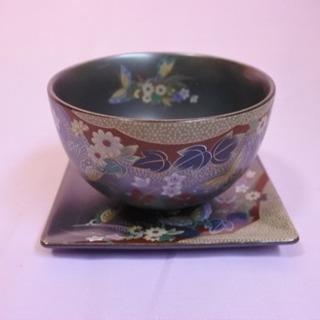 5個セット 湯呑みと茶托 陶器製