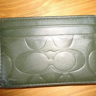 COACH 革製カードケース売ります!【送料込】お値下げです!